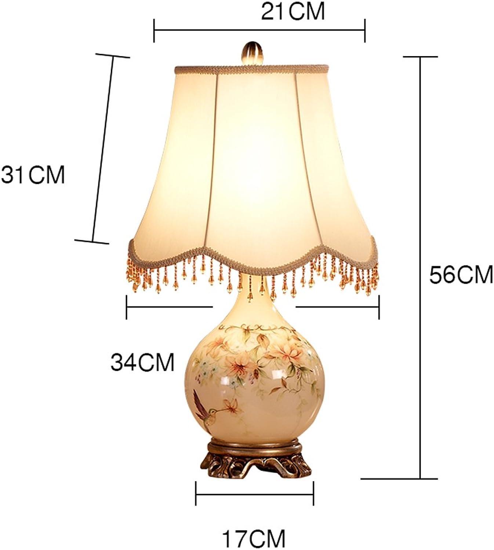 Amerikanische dekorative Tischlampe Pastoral Schlafzimmer Lampe Nachttischlampe (Farbe (Farbe (Farbe   Dimmschalter) B06XT2H7C1     | Guter weltweiter Ruf  deae61