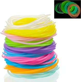 100 Pieces Luminescent Silicone Jelly Bracelets 80's Hair Ties Multicolor Rainbow Silicone Wristband Bracelet Party Favors...