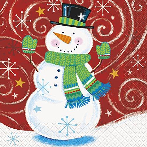 Unique Party Supplies Schneemann Swirl Weihnachten Papier Servietten, 16Stück