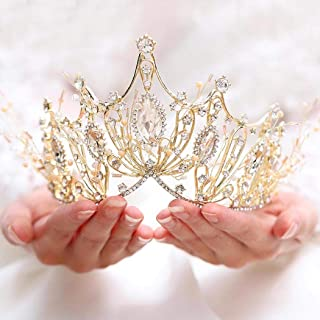 Victray Bride Wedding Crowns and Tiaras Bridal Flower Princess Headbands Crystal Headpieces for Women and Girls