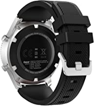 FanTEK Band for Samsung Galaxy Watch 46mm / Gear S3 Frontier/Classic Watch, 22mm Silicone Sport Quick Release Replacement Strap Work for Moto 360 2nd Gen 46mm/ Pebble Time Steel Smart Watch, Black