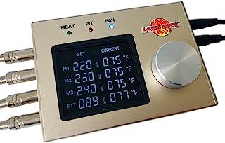 LavaLockⓇ 4-Probe Automatic BBQ Controller w/ 35 cfm Variable Speed Fan for sm, med, Large pits, BGE, Kamado Joe, WSM, UDS, Weber Smokey Mountain, Oklahoma Joe`s, Offset Vertical Stick Burner Smokers