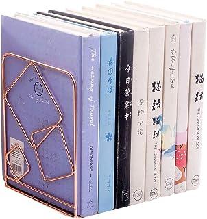 Xegood Organizador de Escritorio Oro/Oro Rosa Arte Ujetalibros Sujeta Libros Hierro Clasificación Sujetalibros Libros Esta...