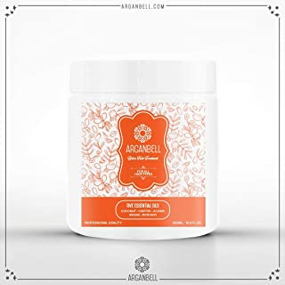 ARGANBELL Botox Hair Treatment 17.90 Fl Oz for All Hair Types Five Essential Oils - Coconut - Castor - Jojoba - Argan - Avocado Provides Smoothness Vitamins Proteins and Minerals Eliminates Frizz
