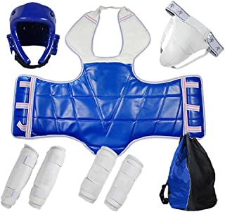 Martial Arts Protective Gear 5Pcs Set Thick for Tournament - Effective Impact Resistance - Groin Chest Guard - for Karate ...