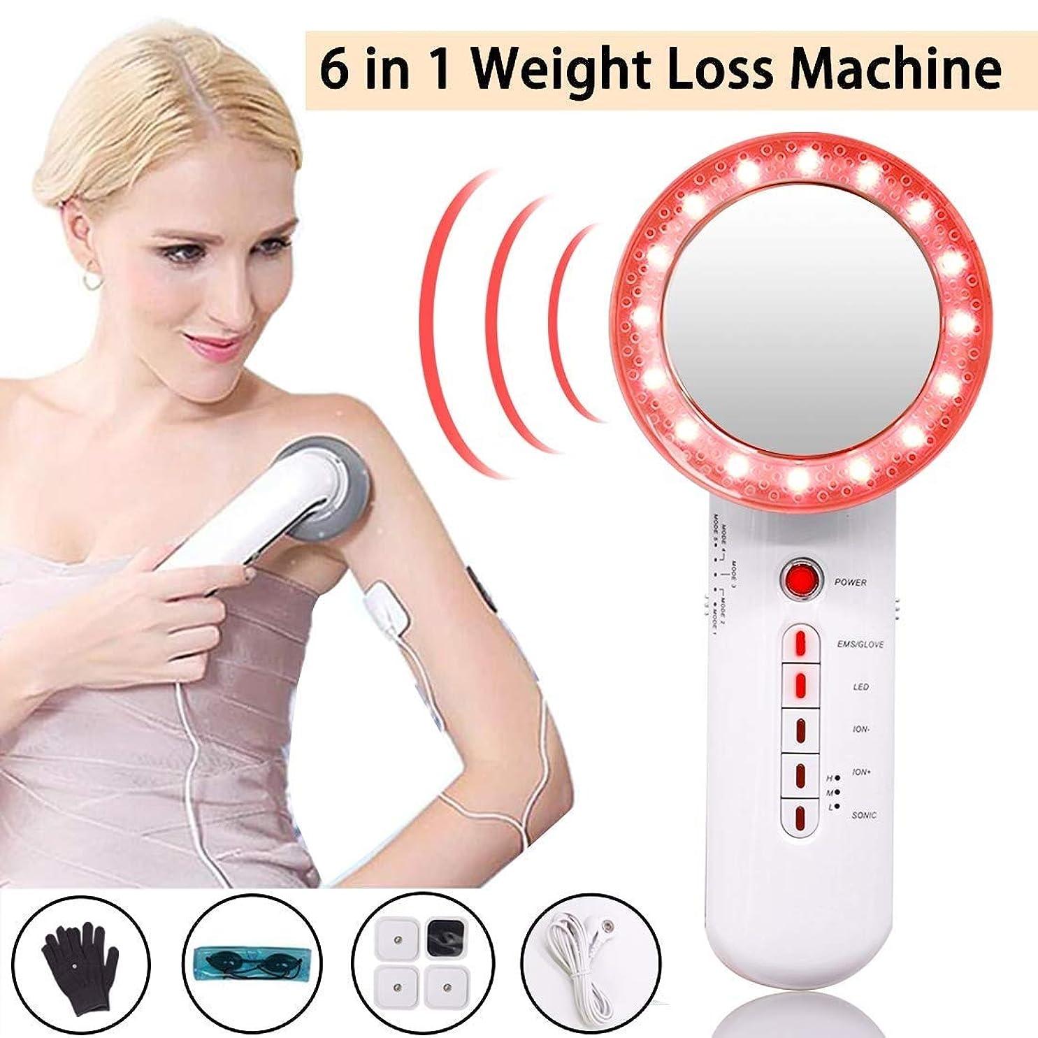 脅威ハンディキャップ巡礼者EMSの脂肪質の取り外しの減量機械、顔の腕の足の胃のために、きつく締まる1つの多機能の美装置ボディスリミングに付き高周波振動6つ