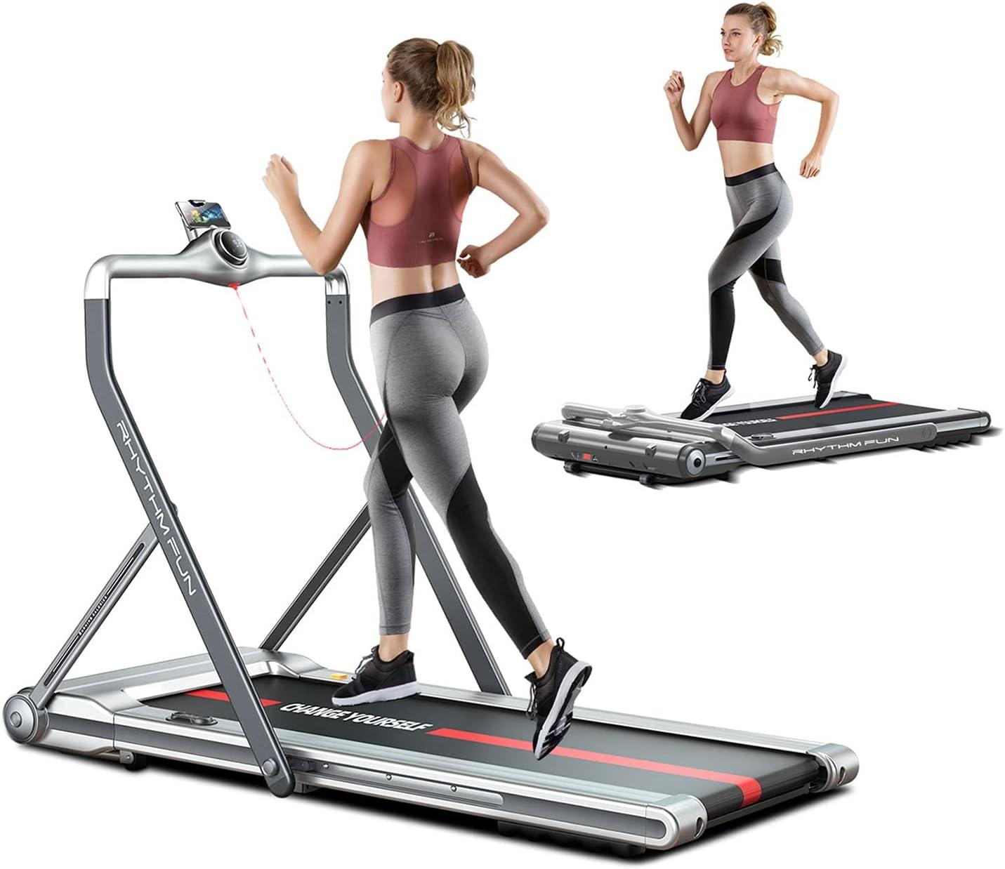 RHYTHM FUN Treadmill 2-in-1 Walking Desk Under Tulsa Mall Folding Excellence