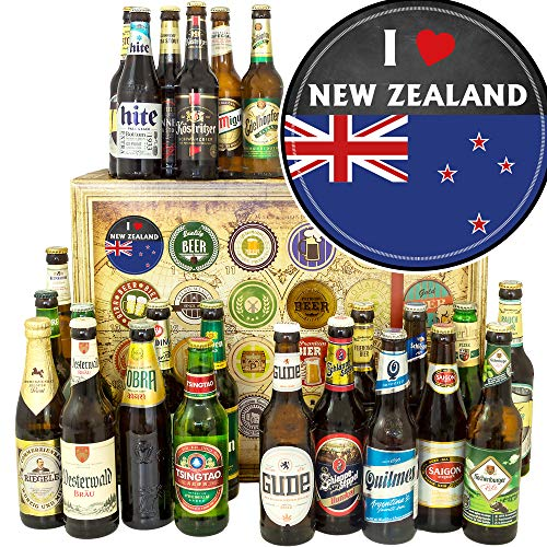 I love New Zealand ++ Neuseeland Geschenkpaket ++ Biere der Welt und D 24x / Advent Kalender Bier