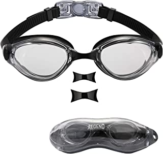Aegend Swim Goggles, Nose Piece Replaceable Swimming...