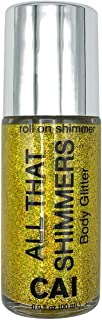 Body Glitter Face Or Hair Roll On Shimmer Holographic Cosmetic Grade Glamour, Gold