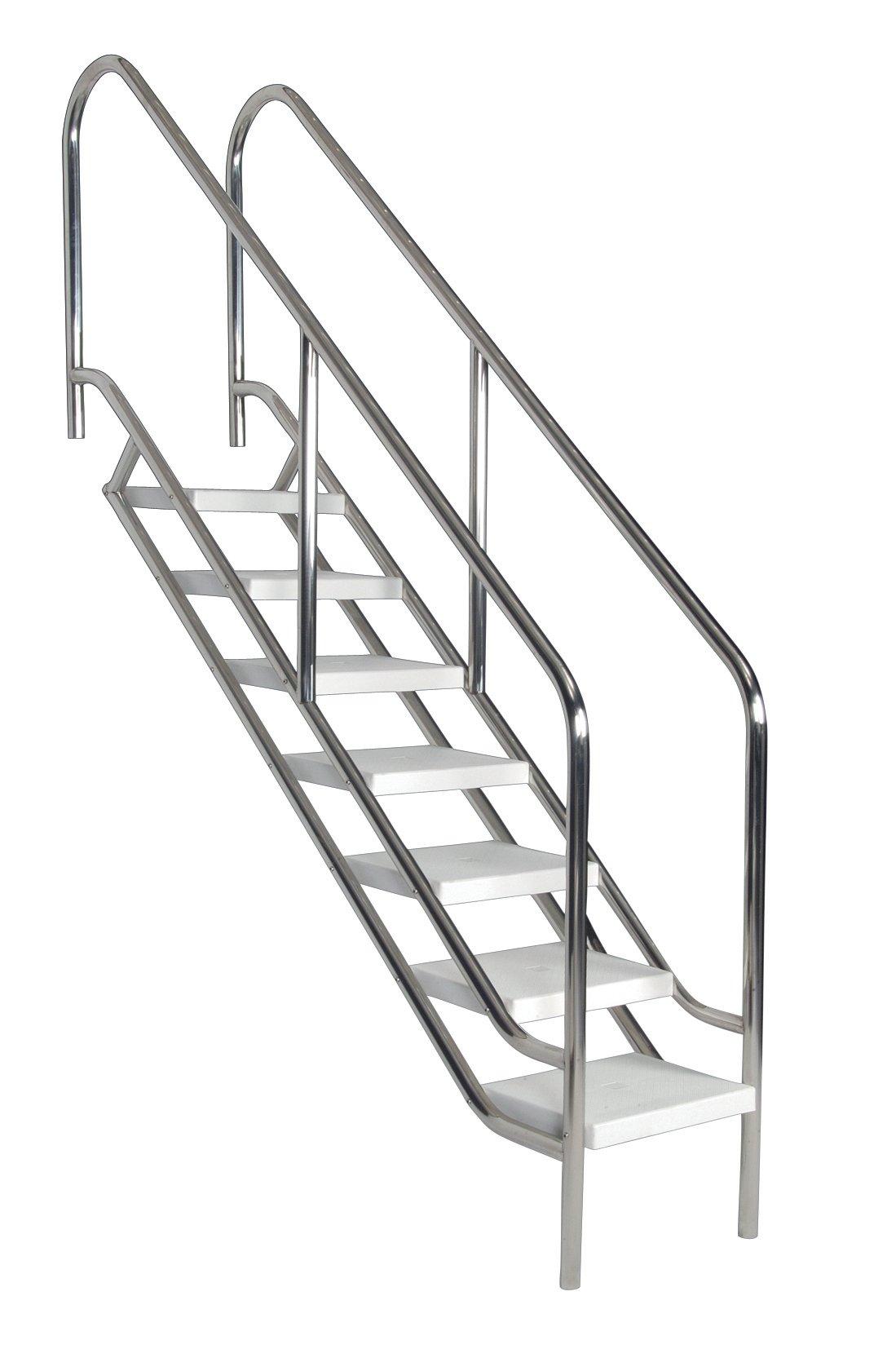 Astral V4A Deluxe - Escalera para piscina (7 peldaños): Amazon.es: Jardín