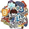 Kmsshop ステッカープログラマーソフトウェアのプログラミング言語ステッカーノートスケートボードトラベルケースのステッカー防水50pcsのファッションおもちゃ 便利なマーキング (Color : Multi-colored)