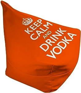 "Choosy Keep Calm and Drink Vodka Adult Bean Bag, Orange (Large - 38""L x 42""W x 29""H)"