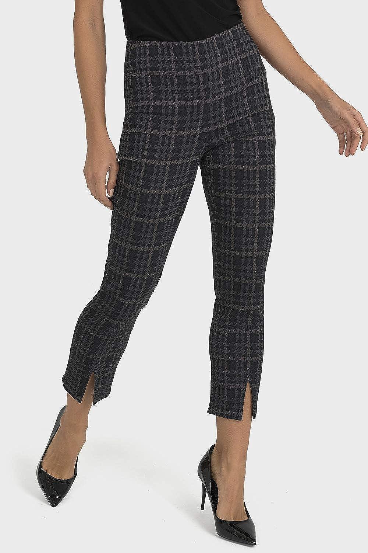 Joseph Ribkoff Grey Black Pant Style 193740