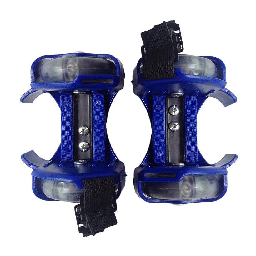 ソート行右Swiftgood 子供のための二重車輪が付いている3色の軽い点滅のローラーの小さい旋風の滑車の調節可能な単にローラースケートの靴