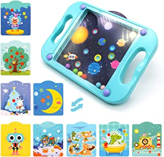 Hand-Held Balance Ball Maze Board with 10 Scenes Cards, Labyrinth Board Toys for Kids, Educational Learning Puzzle Game for Developing Patience, Best Gift for 3-5 Years Toddlers, Children, Boys & Girl