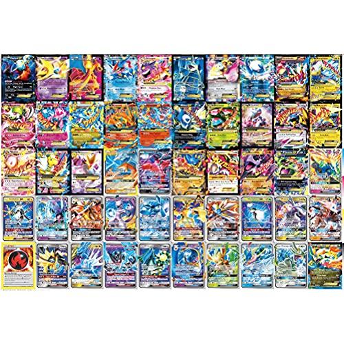 KENANLAN Pokemon Karten, Karten GX Vmax, 100 Stück Verschiedene Pokemon Karten aus Schwert und Schild Editionen, 78EX+21GX+1Energy Karten für Pokemon
