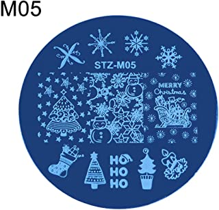 gainvictorlf Christmas Ornaments, Christmas Snowflake Deer Shoes Nail Stamping Plate Stamp Image Template Decor - 5