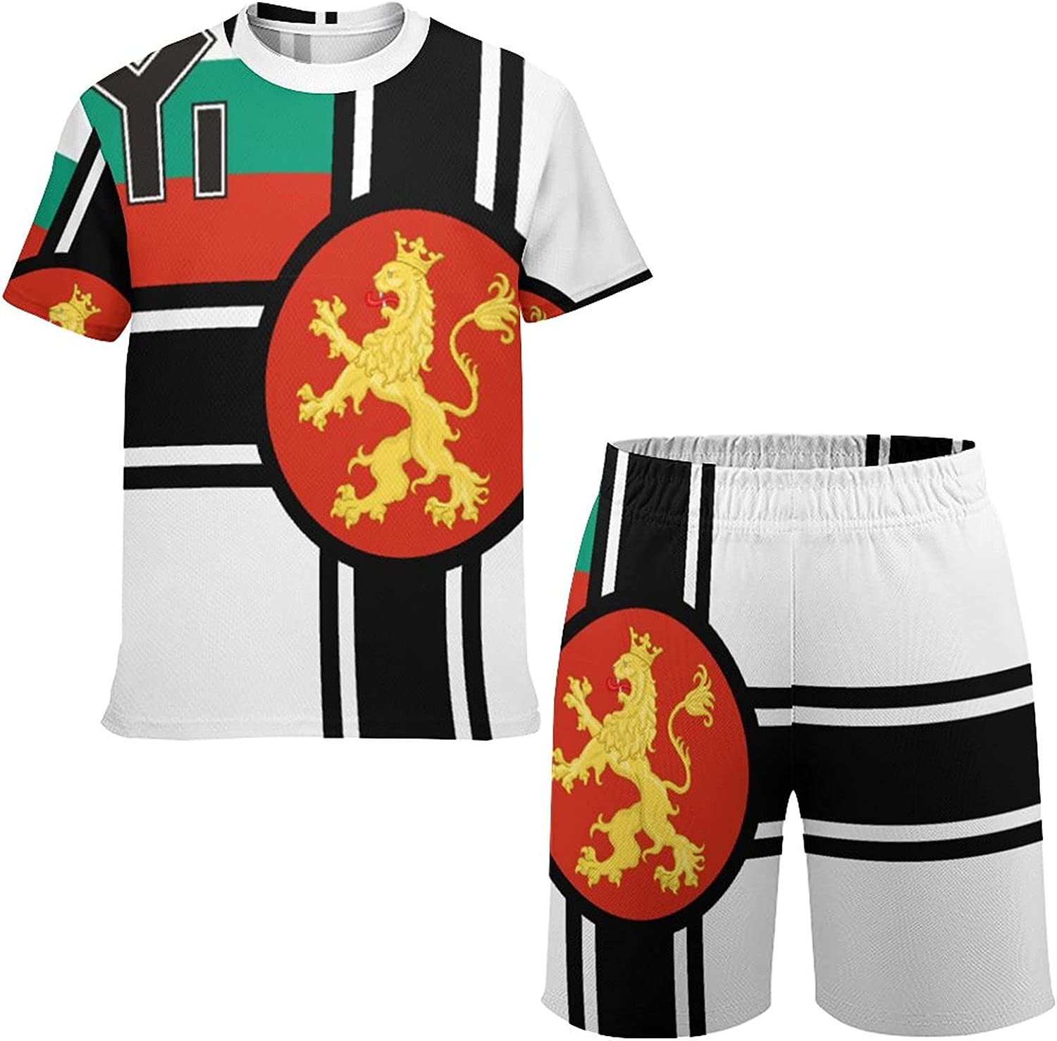 MAIPHUONGANH Trinidad and Tobago Flag Youth Casual Sportswear T-Shirt and Shorts Running Jogging Athletic Sports Suit