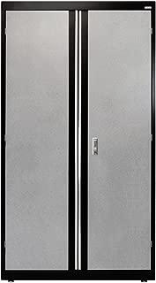 Sandusky Lee GACF361872-M9 Welded Steel Combo Cabinet, 3 Adjustable Side Shelves, 1 Fixed Top Shelf, 200 lb. Per Shelf Capacity, 72