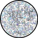 Eulenspiegel Silber-Juwel grob, holographisch