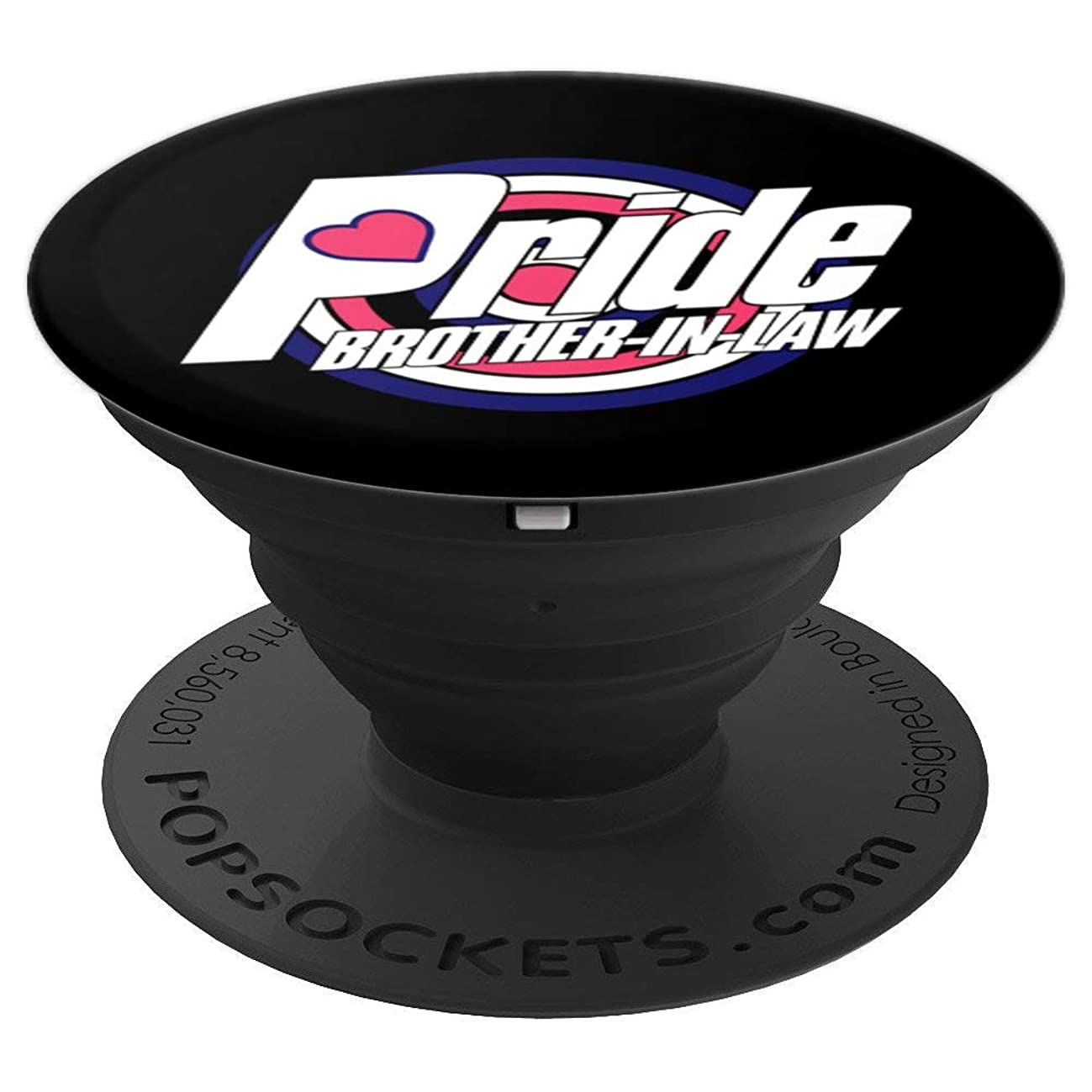 Leather BDSM Brother In Law LGBTQ Gay Pride Week Gifts PopSockets Grip and Stand for Phones and Tablets