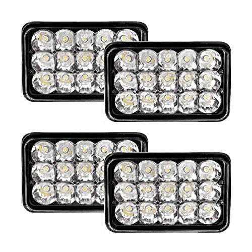 headlight conversions 4x V-Spec 4x6 Premium LED Headlight Conversions - Black H4651 H4656 H4666