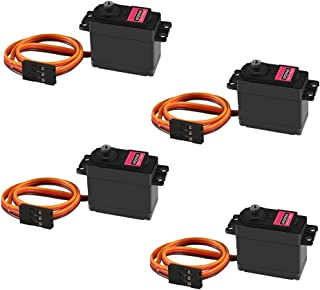 4Pcs MG996R Servo Motor Metal Gear Torque Digital Servo Motor with Arm Horn for Smart Car Robot Boat RC Airplane Model Helicopter AVR Toys Drone Arduino