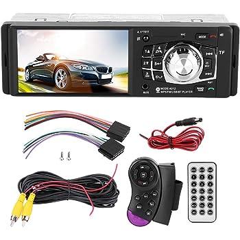 con camara Qiilu Radio coche 4.1 pulgadas Reproductor MP5 Pantalla HD Bluetooth Manos libres Reproducci/ón de video Radio FM AUX TF USB y Control remoto