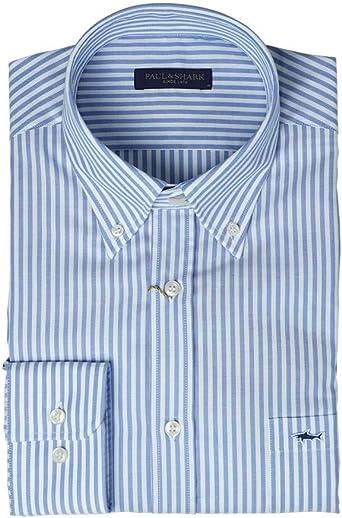 PAUL & SHARK COP3006-002 - Camisa a rayas azules para hombre ...