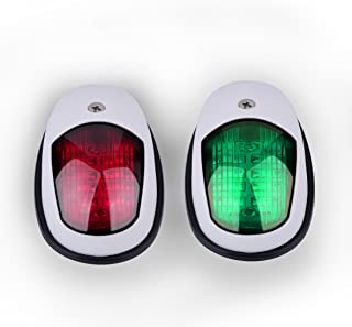 Powstro Green & Red Marine LED Boating Lights Waterproof Boat Bow Starboard Navigation Side Lamp Stern Safety Lights
