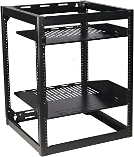 Sanus CFR1615-B1 Component Series 15U Stackable Skeleton Rack (26