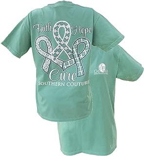 Faith Hope Cure Breast Cancer Awareness Tee Shirt