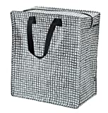 IKEA KNALLA REUSALE Grocery Bag with Zip (Black with White DOT) 12 Gallon  Set of 2 003.304.87, Red