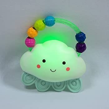 B. toys – Rain-Glow Squeeze – Light-Up Cloud Rattle for Babies 3 Months +