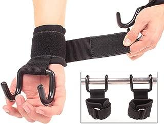 Samoii Weight Lifting Rod Hooks Heavy Duty Wrist Wraps Power Weight Lifting Training Gym Straps Set of 2