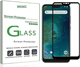 RKINC forXiaomi Mi A2 LiteScreen Protector, [1 Pack] Full Coverage Tempered Glass Clear Screen Protector [9H Hardness][3D Round Edge][0.33mm Thickness] forXiaomi Mi A2 Lite/Redmi 6 Pro, Black