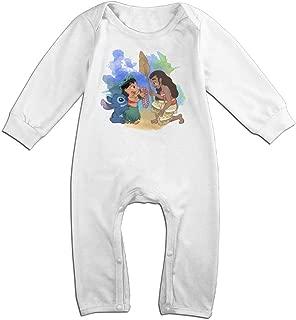 Baby Infant Romper Moana Long Sleeve Jumpsuit Costume,White
