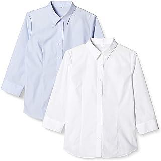 [セシール] ブラウス 形態安定シャツ 2枚組 レギュラーカラー 7分袖 AX-287 レディース