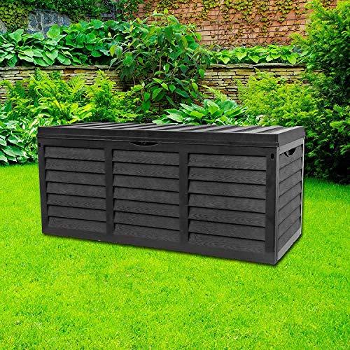 GR8 Garden Plastique Noir Rangement Boite Couvercle...