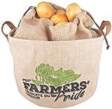 Esschert Design Farmers' Pride Kartoffeltasche, Jute, beige, 34 x 24 x 23 cm
