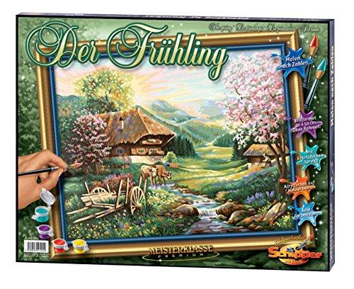 Schipper 609130505 - Malen nach Zahlen - Der Frühling - Bilder malen für Erwachsene, inklusive Pinsel und Acrylfarben, 40 x 50 cm