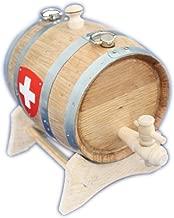 1 L Kragen Hund Bernhardiner Fass weinfass holz holzfass  Schweizer Kreuz