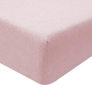 Sleepdown 5056242774273 Drap-Housse en Jersey Rose mélangé Chaud Confortable Facile d'entretien 90 x 200 x 25 cm, Polycoto...