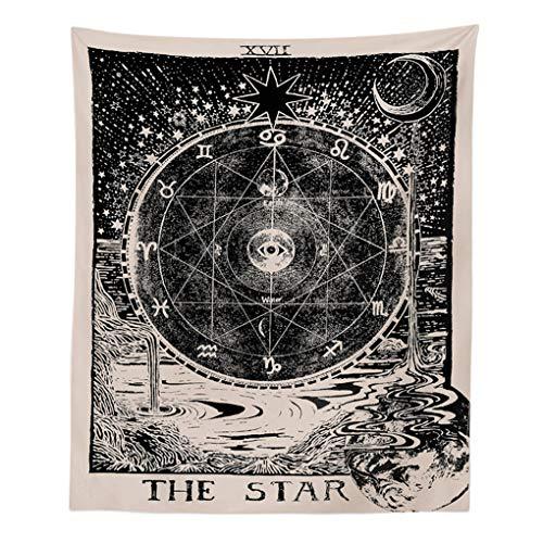 Europa Divination Tapestry The Moon The Star The Sun Tapestry Muur wandtapijten Mysterieuze huis Bedroon Decor