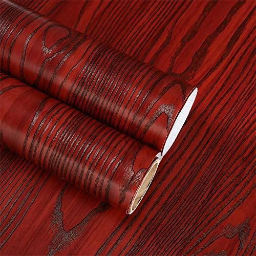 Hode Papel Adhesivo para Muebles Rojo Madera...