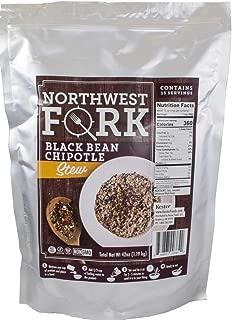 NorthWest Fork Black Bean Chipotle Stew (Gluten-Free, Non-GMO, Kosher, Vegan) 15 Serving Bag - 10+ Year Shelf Life
