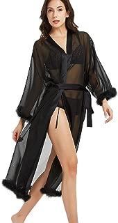 Women's Silk Kimono Robe Long Sleeve Satin Sleepwear Bridesmaid Lingerie Wedding Party Robe