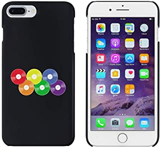Black 'Rainbow Vinyl Records' Case for iPhone 7 Plus (MC00253290)