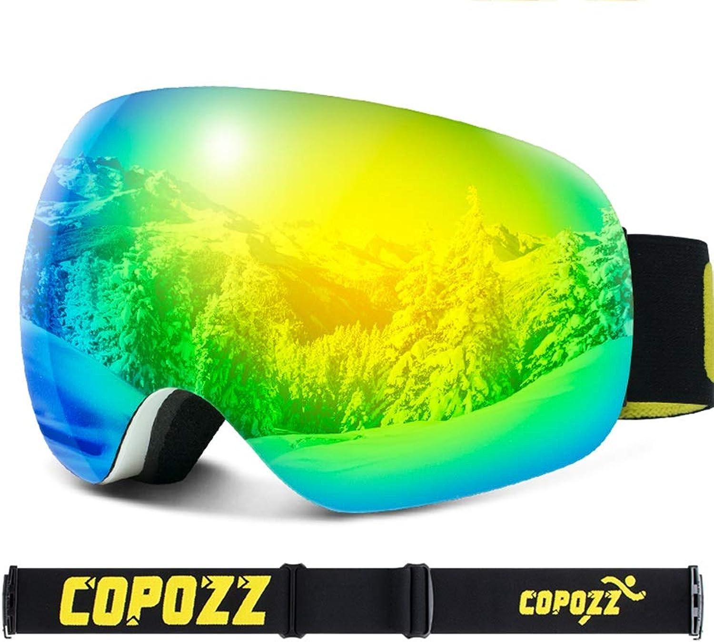 RKY Skibrille Skibrille - TPU PC, doppelt beschlagfrei, beschlagfrei, beschlagfrei, randlos plattierte Linse, Rutschfester Silikonkopf, kann Myopie, Unisex-Outdoor-Ski- und Bergsportausrüstung für Erwachsene mit großen kugelfö B07L84P4J2  Verkauf Online-Shop c837d2